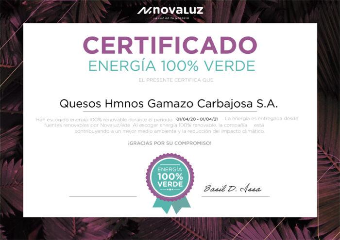 certificado-energia-100-verde-novaluz